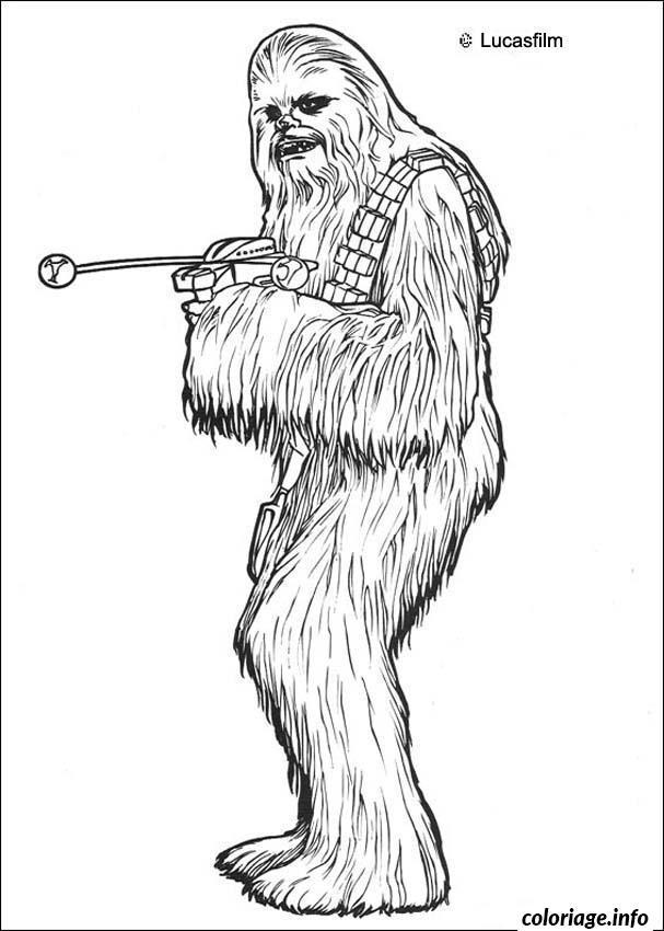 Coloriage Star Wars Chewbacca dessin