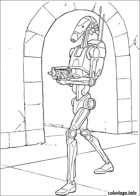 Dessin droid de star wars marche Coloriage Gratuit à Imprimer
