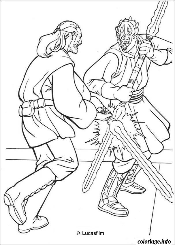 Coloriage star wars la bataille de sabre dessin - Coloriage de star wars ...