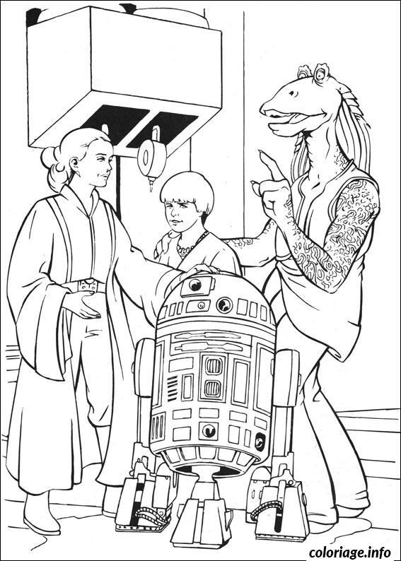 Dessin star wars les droids amis Coloriage Gratuit à Imprimer