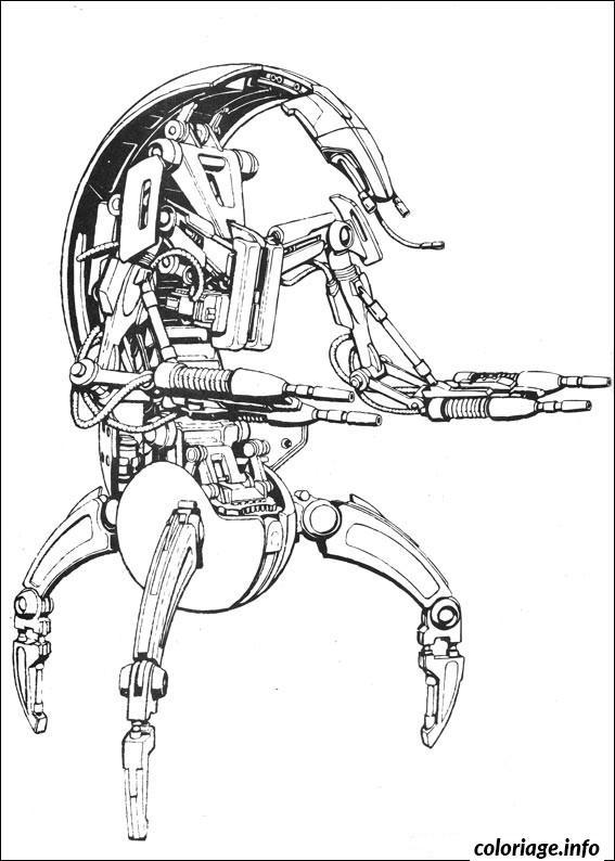 Dessin star wars les droids destroyers Coloriage Gratuit à Imprimer