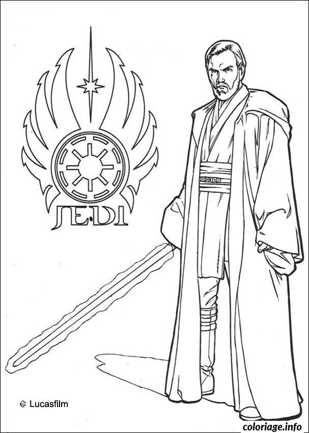Dessin star wars jedi logo Coloriage Gratuit à Imprimer