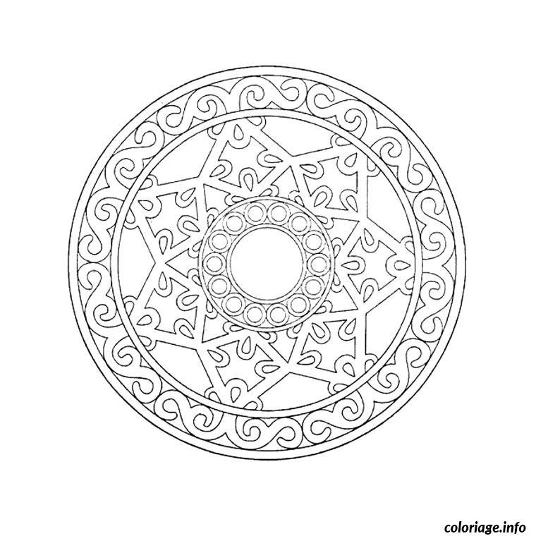 Coloriage mandala etoile noel cerle dessin - Dessin a imprimer etoile ...