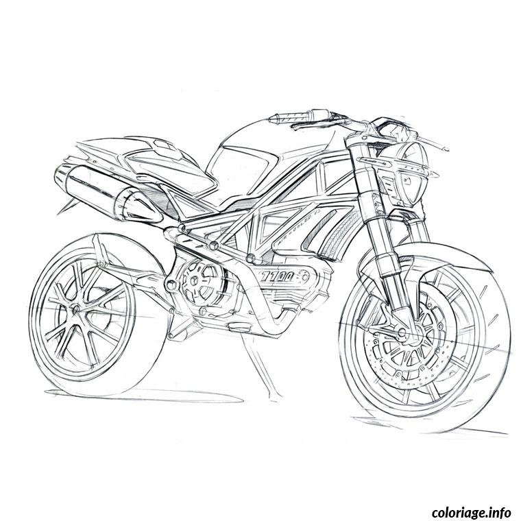 coloriage moto ducati dessin. Black Bedroom Furniture Sets. Home Design Ideas