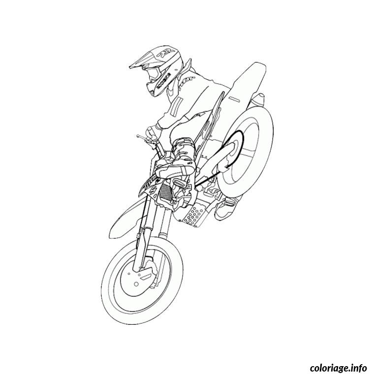 Coloriage moto cross dessin - Moto cross a colorier et imprimer ...