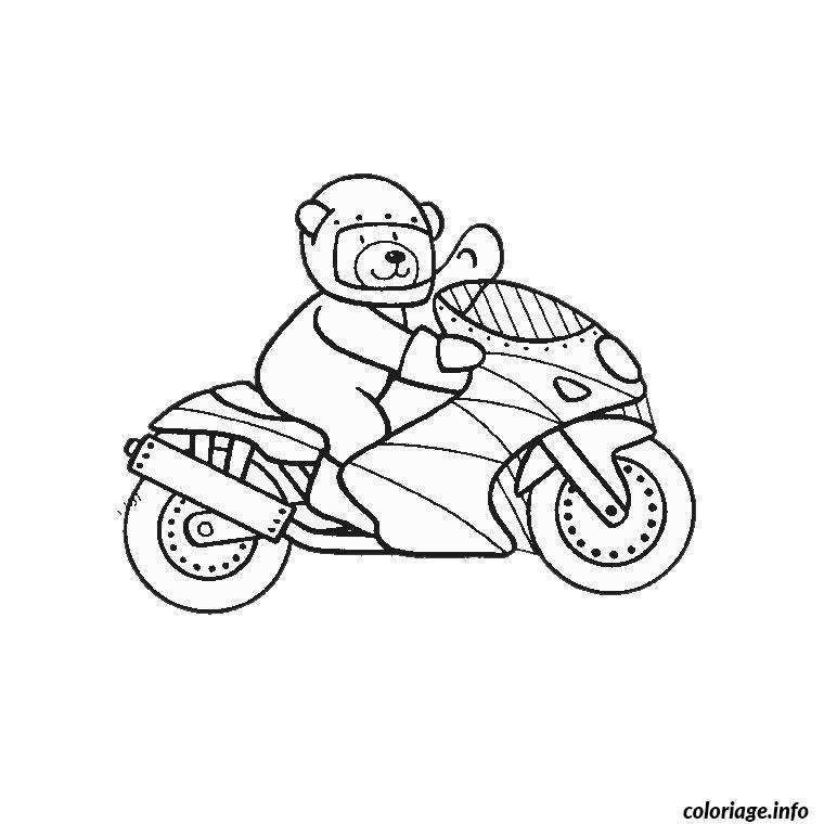 Coloriage moto gp - Dessin de moto cross a colorier ...