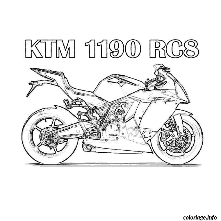 Coloriage moto ktm dessin - Coloriage de moto ...