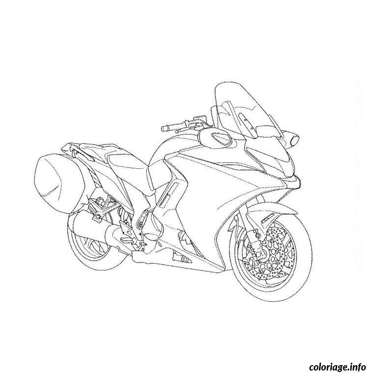 Coloriage moto tuning dessin - Dessin moto a colorier ...