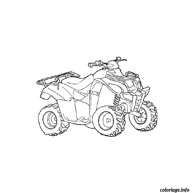 Coloriage Quad Et Moto Dessin