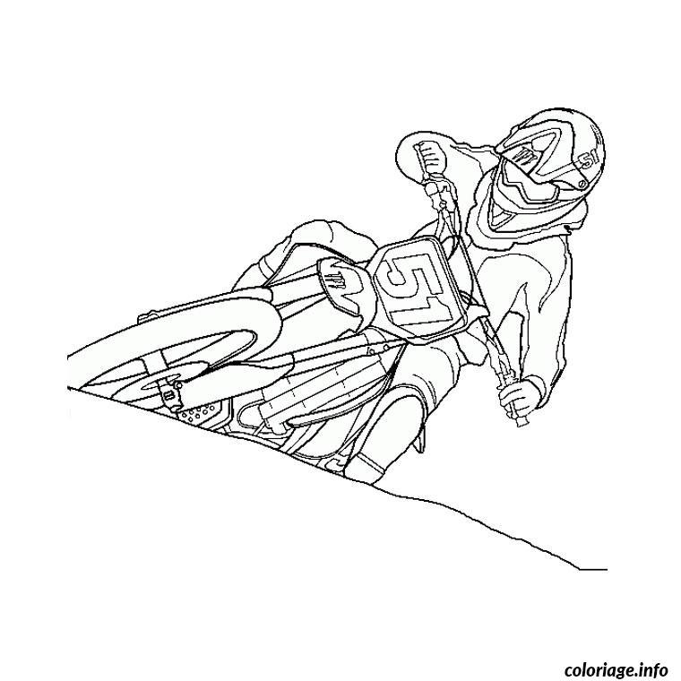 Coloriage Moto Cross Ktm Jecolorie Com