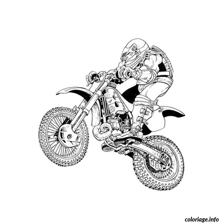 Coloriage moto crosse dessin - Moto a colorier en ligne ...