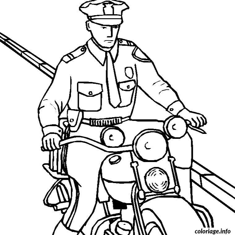 Coloriage moto police dessin - Dessin voiture de police ...