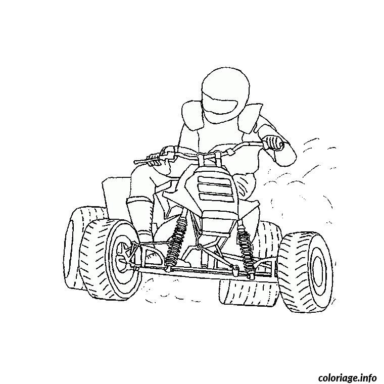 Coloriage Moto Quad Dessin