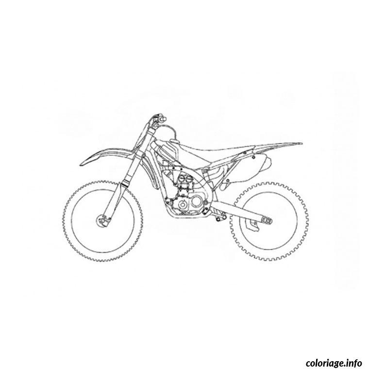 Coloriage moto trial dessin - Dessin de moto cross ...