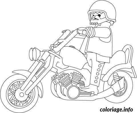 Coloriage Playmobil Moto Jecolorie Com