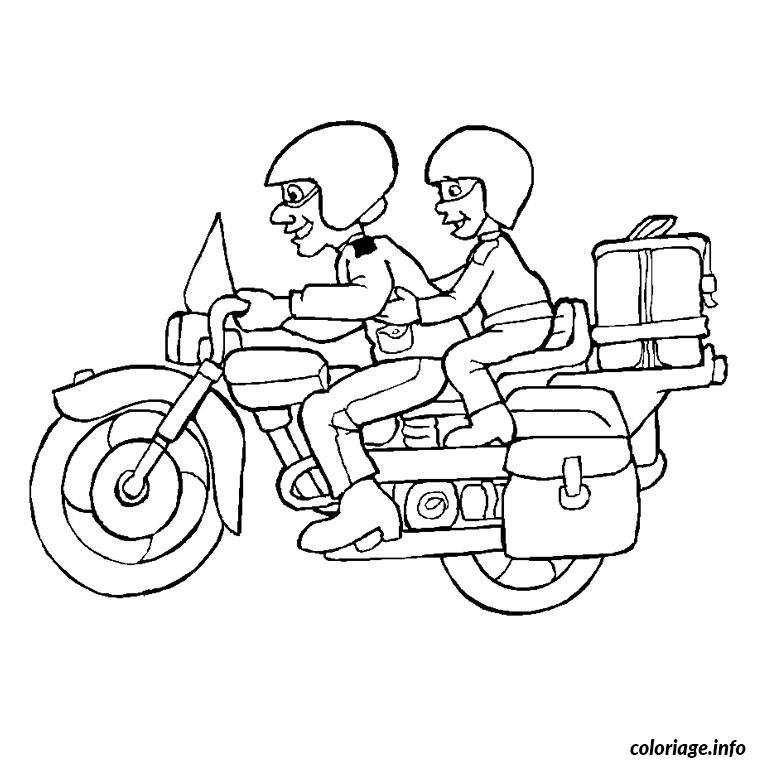 Dessin tv moto Coloriage Gratuit à Imprimer