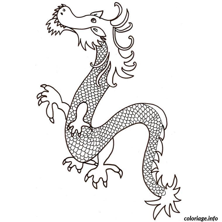Coloriage dragon de chine dessin - Imprimer dragon ...