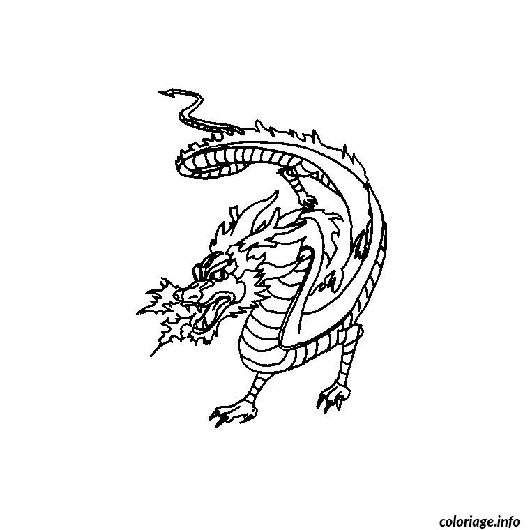 Coloriage dragon de feu dessin - Feu coloriage ...