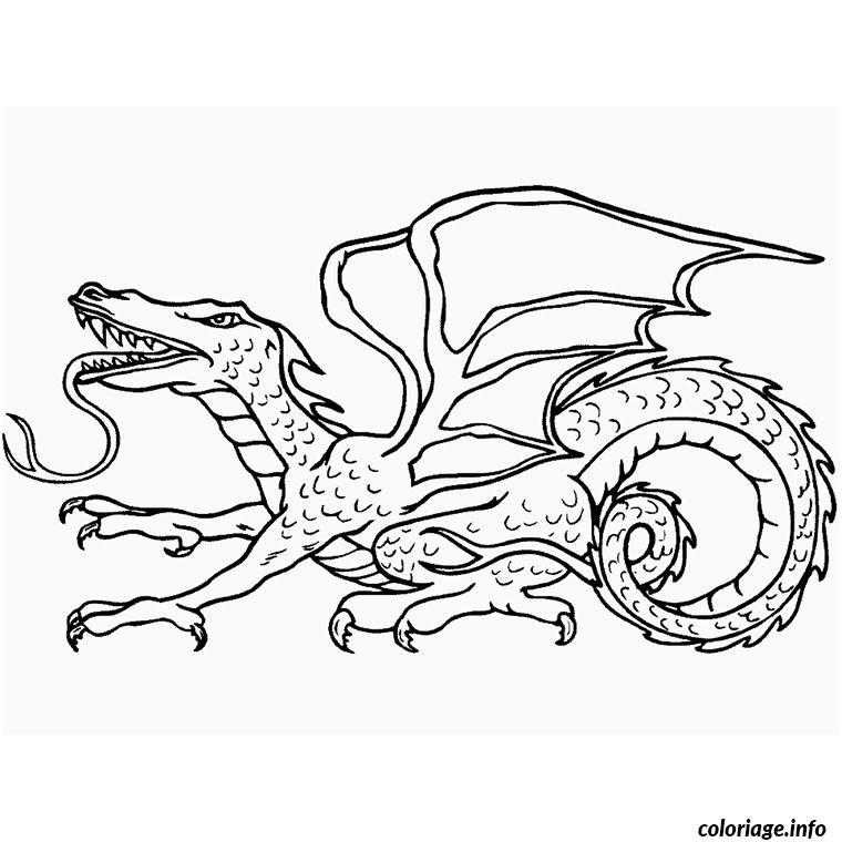 Coloriage dragon volant dessin - Dessin volant ...