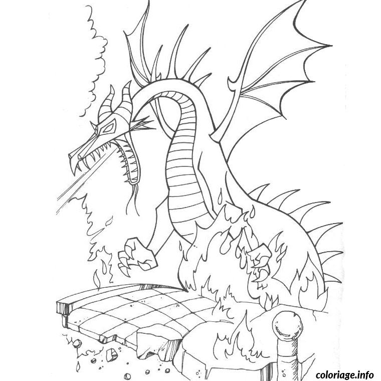 Coloriage dragon disney dessin - Coloriages de dragons ...
