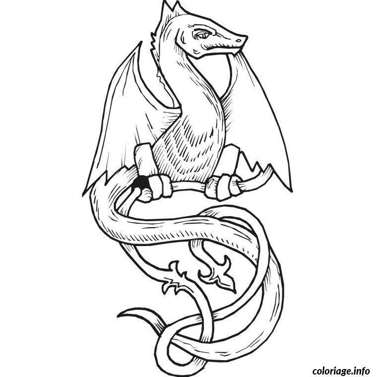 Coloriage dragon quest monster joker dessin - Imprimer dragon ...