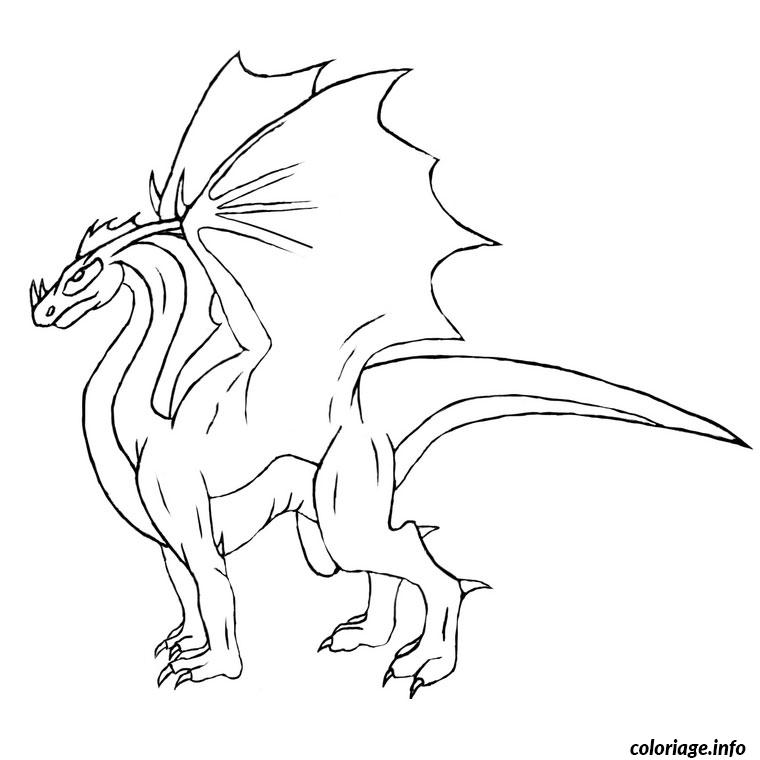 coloriage dragon 3d de profile dessin. Black Bedroom Furniture Sets. Home Design Ideas