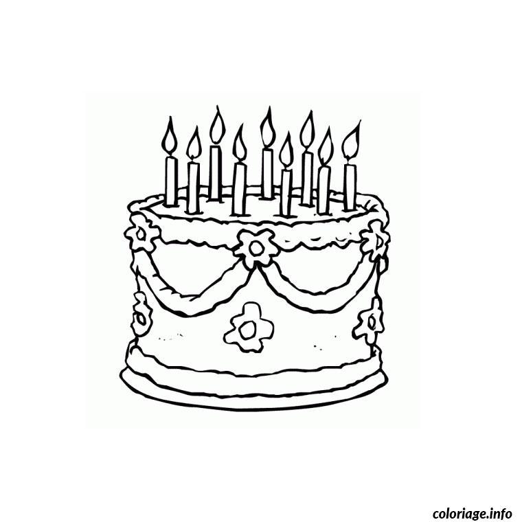 Coloriage gateau anniversaire dessin - Gateau d anniversaire a colorier ...