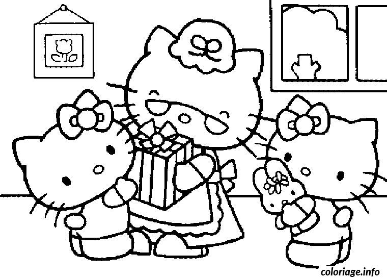 Coloriage Hello Kitty Anniversaire Dessin
