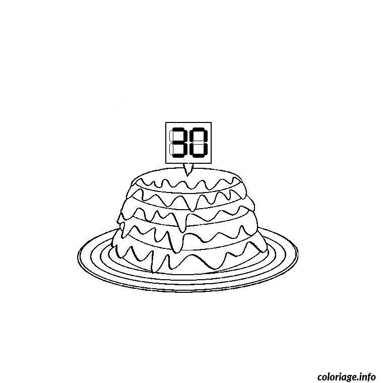 Coloriage anniversaire 30 ans dessin - Coloriage de anniversaire ...