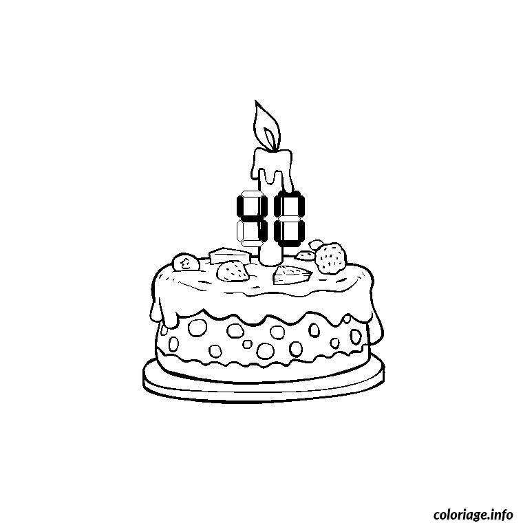 Coloriage anniversaire 40 ans dessin - Dessin gateau anniversaire 50 ans ...