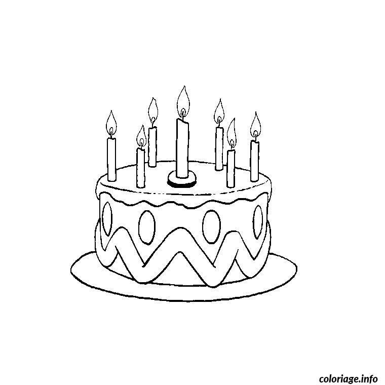 Coloriage anniversaire 7 ans dessin - Gateau d anniversaire a colorier ...
