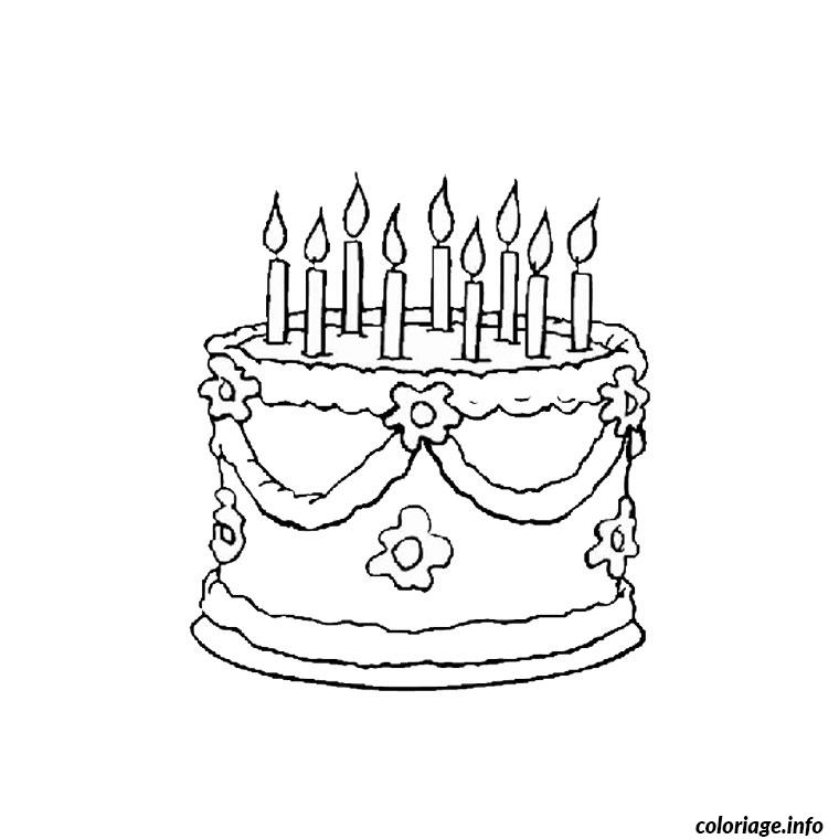 Coloriage anniversaire 9 ans dessin - Dessin gateau anniversaire 50 ans ...