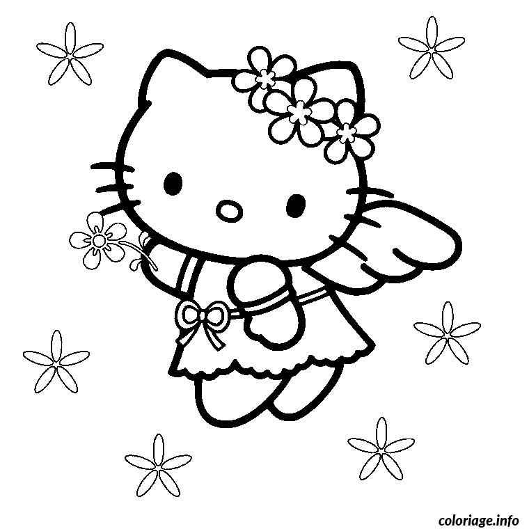 Coloriage anniversaire hello kitty dessin - Coloriage hello kitty ...