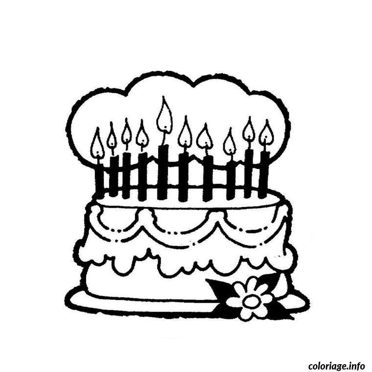 anniversaire coloriage dessin 2090