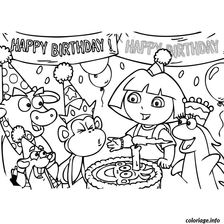 Coloriage dora anniversaire dessin - Dessin a imprimer anniversaire ...