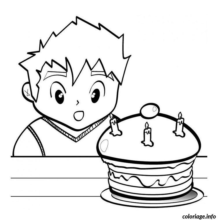 Coloriage anniversaire 3 ans dessin - Coloriage 3 ans ...