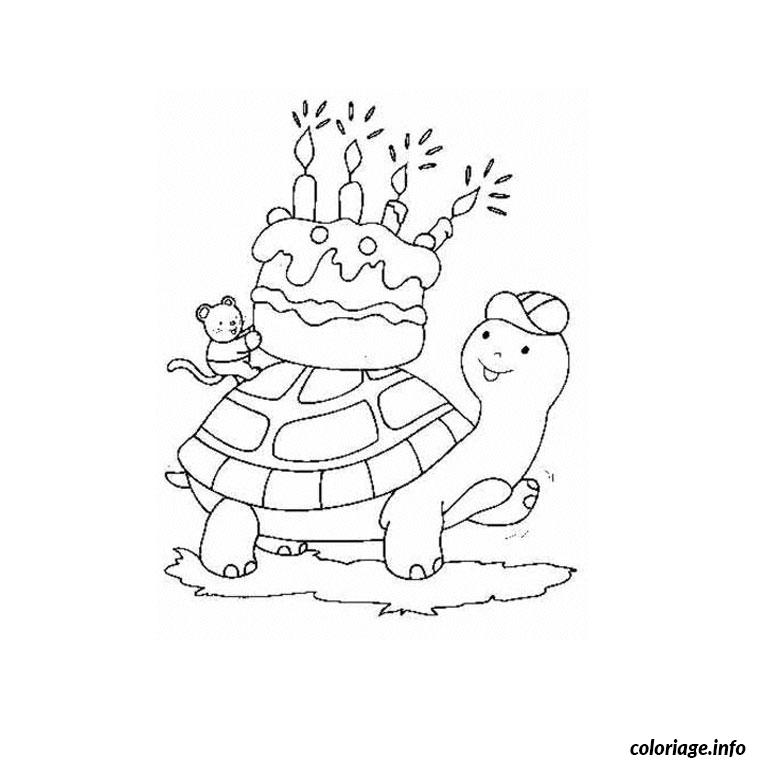gateau anniversaire 4 ans coloriage dessin 2120