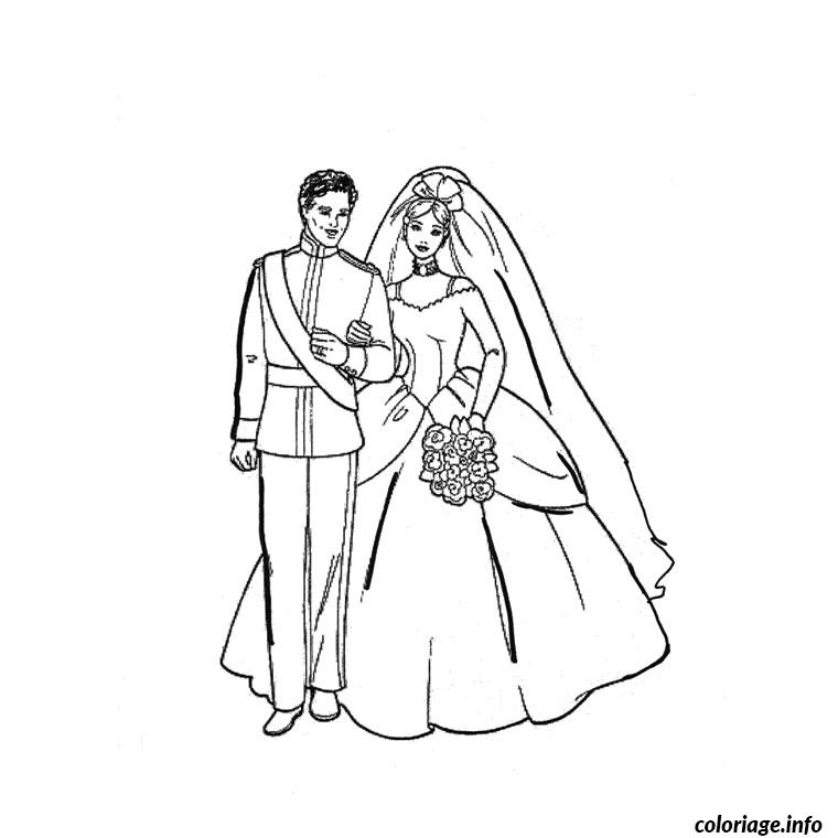coloriage anniversaire mariage dessin imprimer - Dessin Mariage