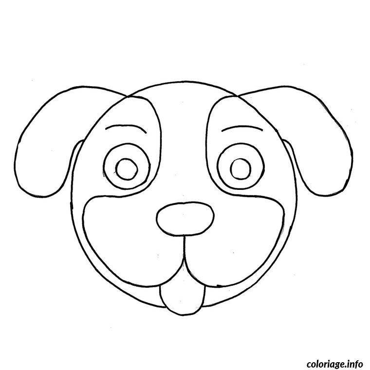 Coloriage tete de chien dessin - Coloriage de chien ...
