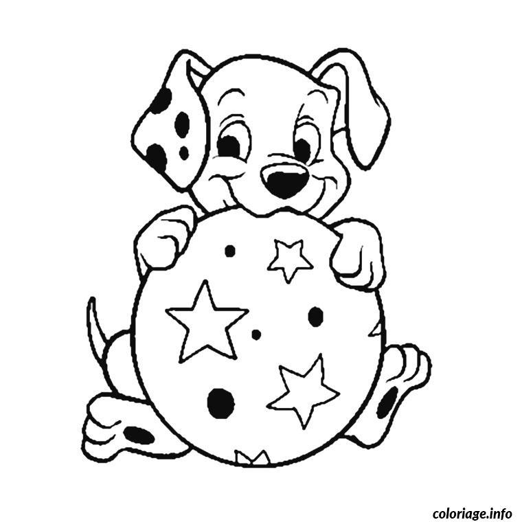 Coloriage dalmatien chiot dessin - Coloriage chiot ...