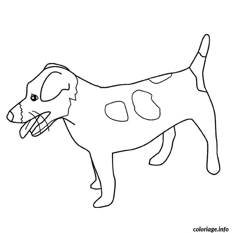 Coloriage chien jack russel dessin - Coloriage chiot ...