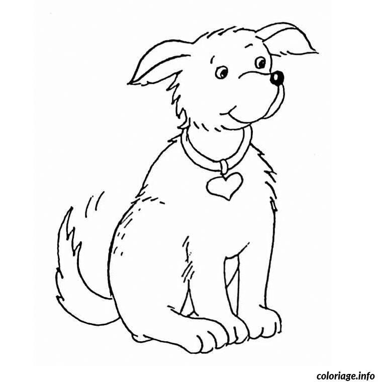 Dessin chien Coloriage Gratuit à Imprimer