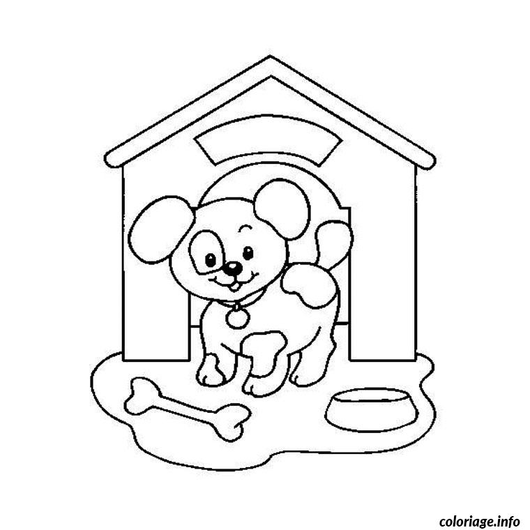 Coloriage chiot dessin - Coloriage chiot ...
