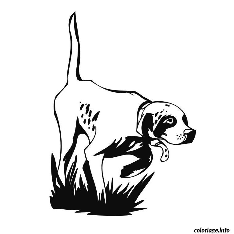 Coloriage chien de chasse dessin - Dessin de chasse ...
