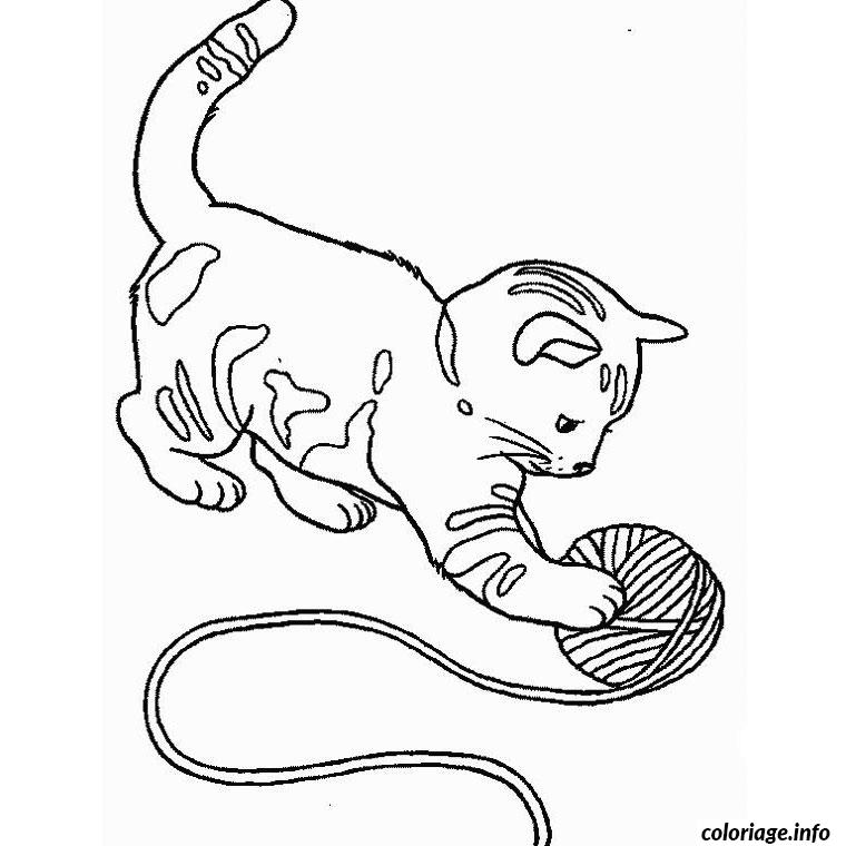 Coloriage Chat Chaton Jecolorie Com