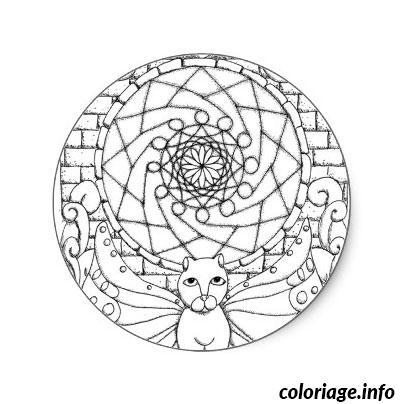 Coloriage Chat Mandala A Imprimer.Coloriage De Chat Mandala A Imprimer Laborde Yves