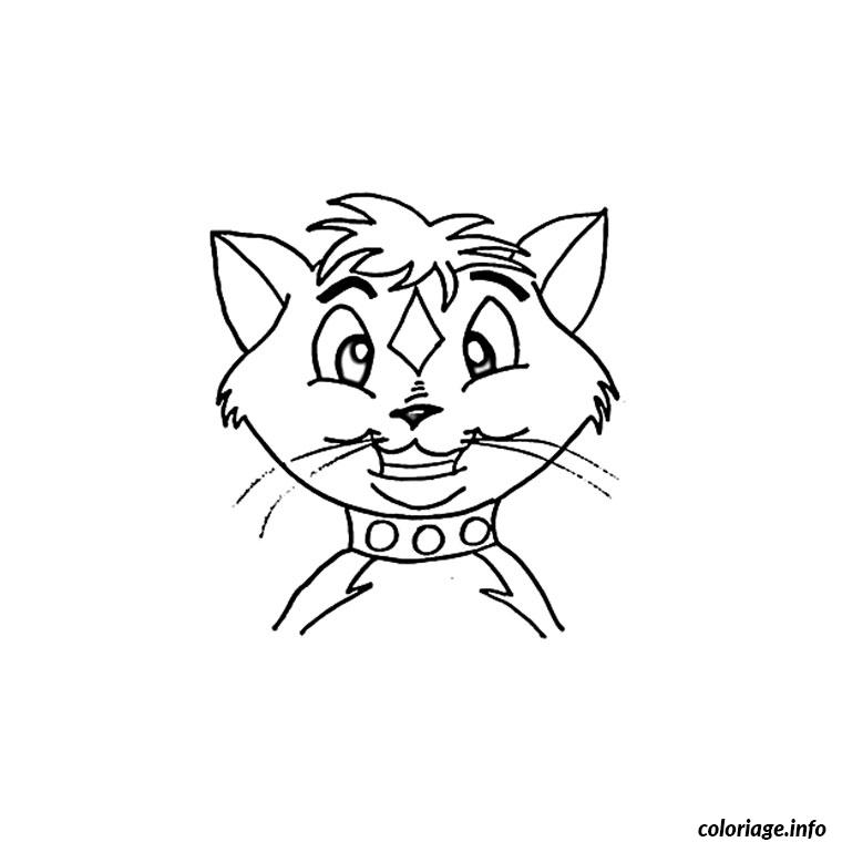 Coloriage tete de chat dessin - Tete de chat a colorier ...