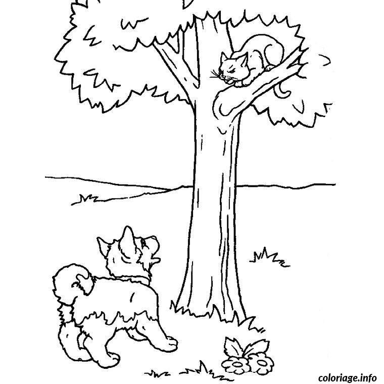 Coloriage chiot et chaton dessin - Coloriages chatons ...
