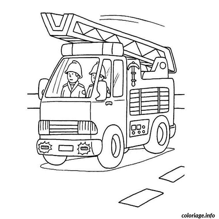 Coloriage Camion Pompier Dessin
