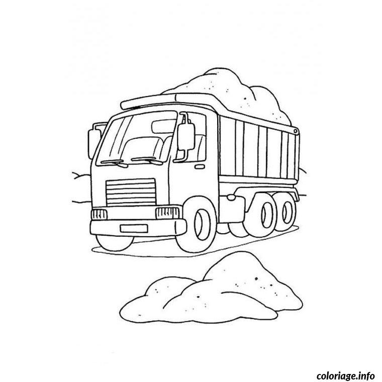 Dessin Camion Benne Coloriage.Coloriage Camion Benne Jecolorie Com